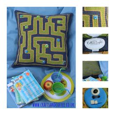 Monster Maze Crochet Cushion Tutorial - designed by and available at www.craftsandcoffee.co.uk