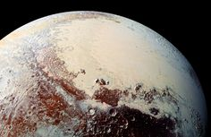 This high-resolution image captured by NASA's New Horizons spacecraft shows the bright expanse of Pluto's western lobe of the 'heart,' informally called Sputnik Planum.