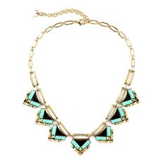 Amazon.com: ZMJ Retro Fashion Necklace Vintage Triangle Necklace Green (J-SN89): Clothing