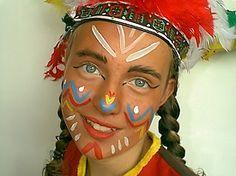 indiaan schminken