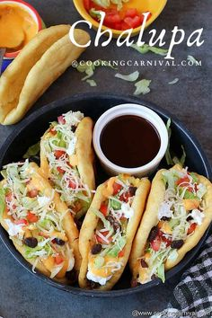 Mexican Chalupas Recipe, Chalupa Recipe, Mexican Dishes, Mexican Food Recipes, Taco Bell Chalupa, Taco Bell Copycat, Best Dishes, Cheese Sauce, Appetizers