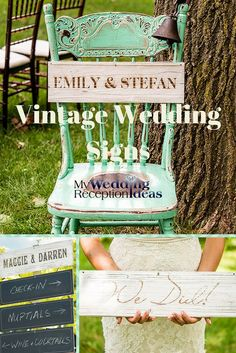 Sold in sets of two, these 18 x 5 multi-purpose, vintage inspired wooden sign boards are custom printed on a white wash finish on one side with a black, writable chalkboard surface on the other side. Use for a wedding yard sign to direct guests to your ceremony or reception or to decorate your vintage or rustic theme reception hall. Wedding Signage, Wedding Reception, Wedding Day, Gifts For Wedding Party, Wedding Favors, Sign Boards, Directional Signs, Rustic Theme, Whimsical Wedding