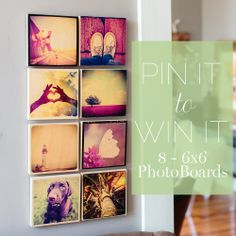 Pin to Win 8 - 6x6 Wooden PhotoBoards from photobarn.com. Follow us on Pinterest and pin at least photos from photobarn.com or pinterest.com/photobarn.