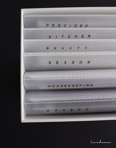 これを同じ無印良品のファイルボックスに入れるとピッタリ♪分かりやすくてスッキリな収納ができます。どこにも属さないカテゴリーの家電用に「OTHERS」も作っておくと便利ですよ。