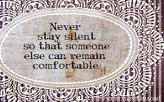 God doesn't call us to be comfortable. speaking truth is caring. even if its hard.