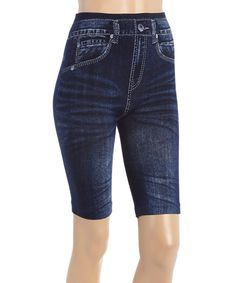Look at this Indigo Whiskered Bermuda Shorts on #zulily today!