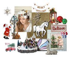 """Christmas mood"" by vualia ❤ liked on Polyvore featuring Improvements, Lene Bjerre, Kurt Adler, Bloomingville, Christmas, christmasgifts, christmasornaments, christmasdecor and Christmascrown"
