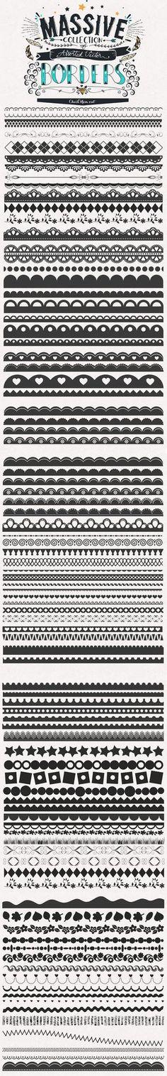 80+ Assorted Vector Borders / Elements by Studio Chem | The Comprehensive, Creative Vectors Bundle Mar 2015