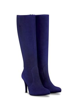 Navy high blue heel boots - just gorgeous! Just don't wear these babies out in the rain.