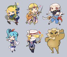The Legend of Zelda: Hyrule Warriors Chibi Zelda Video Games, Ben Drowned, Hyrule Warriors, Kawaii Chibi, Twilight Princess, Breath Of The Wild, Nintendo, Super Smash Bros, Legend Of Zelda