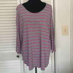 Striped top I wore this once. It's super cute / stretchy I just don't reach for it a.n.a Tops Blouses