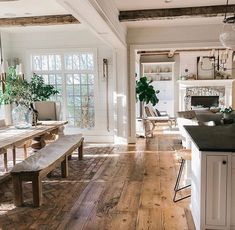 Farmhouse, rustic & vintage decor – decor steals – we are speechless . Ÿ … – Farmhouse, rustic & vintage decor – decor steals – we are speechless . And this is only part of the house! Imagine était we feel – # amp Style At Home, Cape Cod Style Home, My Dream Home, Dream Homes, Rustic Vintage Decor, Brick Flooring, Farmhouse Flooring, Home Flooring, Flooring Ideas
