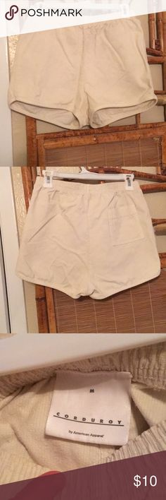 American Apparel, High Waisted Shorts These are high waisted, corduroy shorts. They are vintage inspired and look great with a flowy too or peplum tank American Apparel Shorts