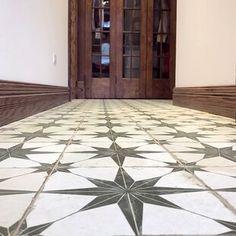 ceramic flooring Merola Tile Kings Star Nero Encaustic in. Ceramic Floor and Wall Tile sq. / case)-FPESTRN - The Home Depot Stone Mosaic Tile, Marble Mosaic, Mosaic Tiles, Wall Tiles, Tile Over Tile, Tiling, Kitchen Flooring, Ceramic Flooring, Kitchen Tiles
