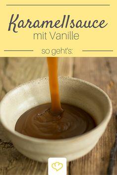 Hausgemachte Karamellsauce verfeinert mit Vanille - ob auf kaltem Eis, im Latte Macchiato, zusammen mit Kuchen oder einfach pur - die geht immer!