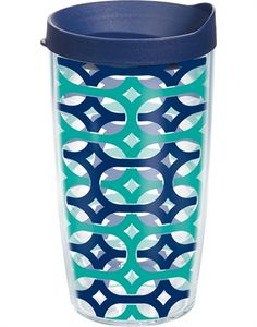 Want! 16 oz. Tervis Penticular Wrap with Lid in Blue