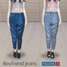 Paluean R Sims: Boyfriend Jeans N2 • Sims 4 Downloads