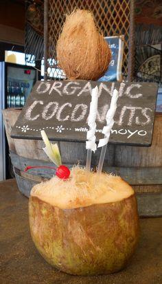 Fresh coconut juice!