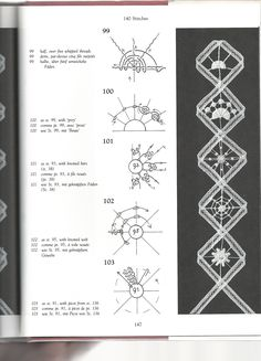 Diy Crafts - The Technique of Tape Lace sample stitches: Fiber Art Reflections Hardanger Embroidery, Paper Embroidery, Embroidery Stitches, Knit Stitches, Bobbin Lace Patterns, Crochet Doily Patterns, Doilies Crochet, Stitch Patterns, Knitting Patterns