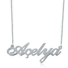Pugster Monogram Necklace - #monogram #necklace #prep #gift Monogram Necklace, Name Necklace, Personalized Jewelry, Silver, Gifts, Fashion, Personalised Jewellery, Moda, Custom Jewelry