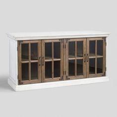 Two Tone Camilla Farmhouse Storage Cabinet | World Market