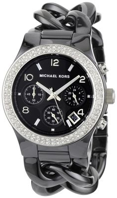 Michael Kors Women's MK5388 Ceramic Classic Chronograph Black Watch