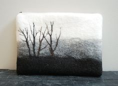 Wet felted pouch - Reduced Price and Free shipping- Laptop Case - Laptop Cover - Laptop Pouch - 11 inch Laptop - Hand Felted on Etsy, $72.18