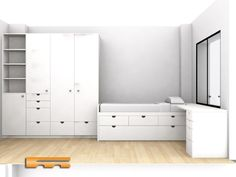Tall Cabinet Storage, House, Furniture, Home Decor, Custom Cabinetry, Fitted Wardrobes, Columns Inside, Houses, Kids Rooms