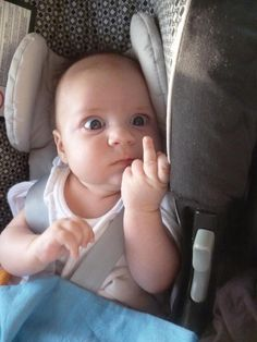 Angry Baby funny baby lol middle finger omg funny kids funny babies