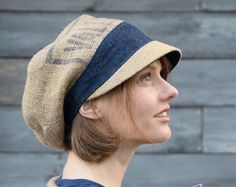 Orange Oak Slouchy Beanie Hat Recycled by GreenTrunkDesigns