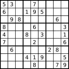 Sudoku - a quick way to calm down.