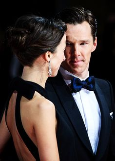 """""""Benedict Cumberbatch and Sophie Hunter attend the EE BAFTA British Academy Film Awards at the Royal Opera House on February 8, 2015 in London, England (x)"""""""