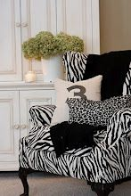 I love the animal print....cute chair too..!!