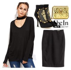 """Shein Top"" by lizf99 ❤ liked on Polyvore featuring Dolce&Gabbana and Gucci"