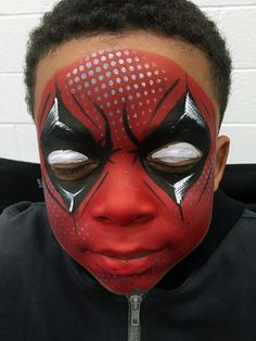 Face Paint | Orlando Face Painters | Colorful Day Events - dead pool face paint design