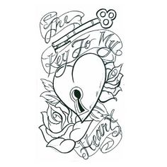 key to my heart heart tattoo design, art, flash, pictures, images, gallery, symbols, key to my heart tattoo free download - tattoo jockey