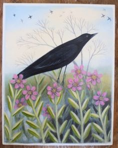 …original painting by talented folk artist Diana Card or Maine, this painting and prints more available at http://www.earthangelsstudios.com/Diana-Card-SALE-C23.aspx