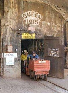 You have to wear a hard hat and a slicker to go underground for the Queen Mine tour in Bisbee.