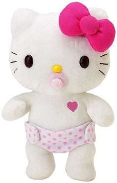 Sanrio Hello Kitty Baby Dress Me Plush - Vinnie.it all starts somewhere my love! We have to get this baby! Sanrio Hello Kitty, Peluche Hello Kitty, Hello Kitty Baby, Hello Kitty Dress, Hello Kitty Plush, Hello Kitty Crafts, Images Hello Kitty, Miss Kitty, Cuddling