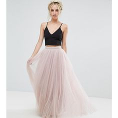 Little Mistress Petite Maxi Tulle Skirt (1.771.120 VND) ❤ liked on Polyvore featuring skirts, petite, pink, long straight skirts, maxi skirts, tall maxi skirt, long pink tulle skirt and petite skirts