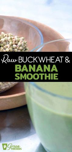 This lovely Raw Buckwheat and Banana Smoothie is great for those on a raw food diet or gluten intolerant. Despite the name buckwheat is actually a grain! Healthy Recipes For Weight Loss, Raw Food Recipes, Beef Recipes, Green Smoothie Recipes, Smoothie Diet, Green Smoothies, Healthy Carbs, Healthy Food, Healthy Meal Replacement Shakes