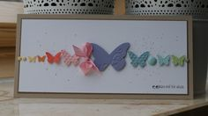Gorgeous butterfly card by Pauline.  Stampin' Up!