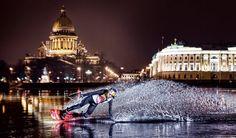Wakeboard Nikita Martyanov sur la glace de Saint-Pétersbourg sur sport-extreme-videos.com