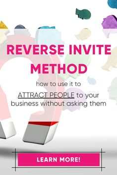 Wish you could finally meet the prospecting goals? The reverse invite method can help! All by getting prospects to invite themselves to your business! Direct Marketing, Business Marketing, Online Marketing, Social Media Marketing, Business Tips, Sales And Marketing Strategy, Business Baby, Business Networking, Mobile Marketing