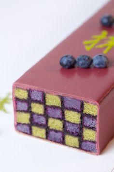 le cake confiture de myrtilles/ thé vert matcha de Ken Thomas au Westin Paris-Vendôme
