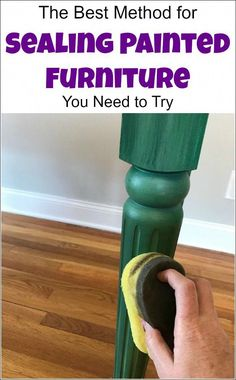 Sealing painted furniture and looking for the best top coat for painted furniture, or how to seal painted furniture? Look no further, this step by step tutorial with video walks you through how to seal painted wood using a sponge applicator. furniture via Furniture Repair, Chalk Paint Furniture, Furniture Projects, Furniture Makeover, Diy Furniture, Modern Furniture, Rustic Furniture, Furniture Stores, Luxury Furniture