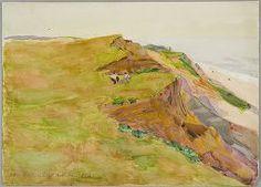 """Highland Light, North Truro, Massachusetts,"" Denman Waldo Ross, watercolor over graphite on off-white wove paper, 10 1/16 x 13 15/16"", Harvard Art Museums/Fogg Museum."