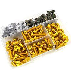 aluminio CNC BJ Global juego de accesorios de fijaci/ón Juego de tornillos universales para carenado de motocicleta