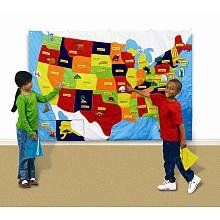 GeoSafari Wonder World USA Map by Educational Insights. $188.20. From the Manufacturer                Navigate the United States in a thrilling, interactive tour across this giant, beautifully detailed 4' x 6' cloth map embroidered with state boundaries. As children learn about American geography, they will love attaching the 78 self-stick felt pieces that identify the states and their unique features. Young students can discover famous landmarks and the amazing di...