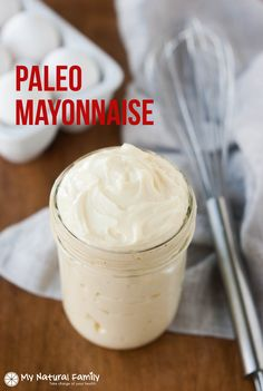 This Paleo mayonnaise recipe is easy to make and the ingredients are usually found in most kitchens. It is so nice to have a truly Paleo recipe for mayo.